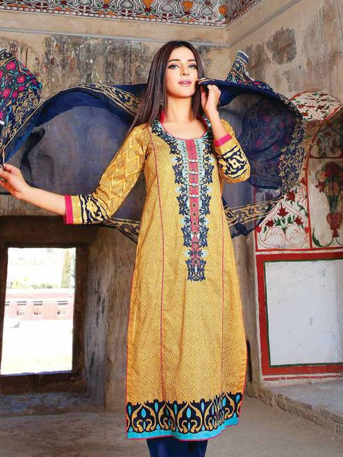 Zanisha Embroidered Lawn Collection 2016 – 06A - YourLibaas  - 1