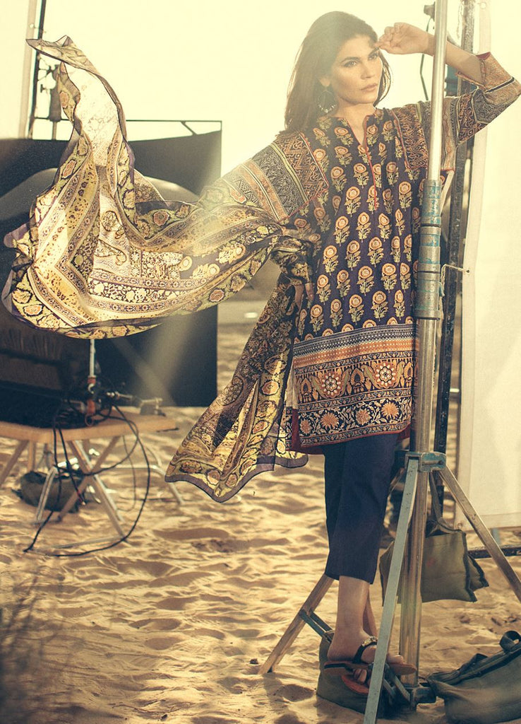 Sana Safinaz Spring/Summer Lawn Collection 2016 – 06B - YourLibaas  - 1
