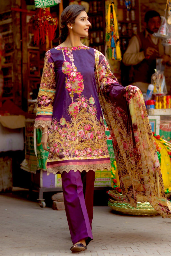 Firdous Spring/Summer Lawn Collection 2018 – EXC 18-07