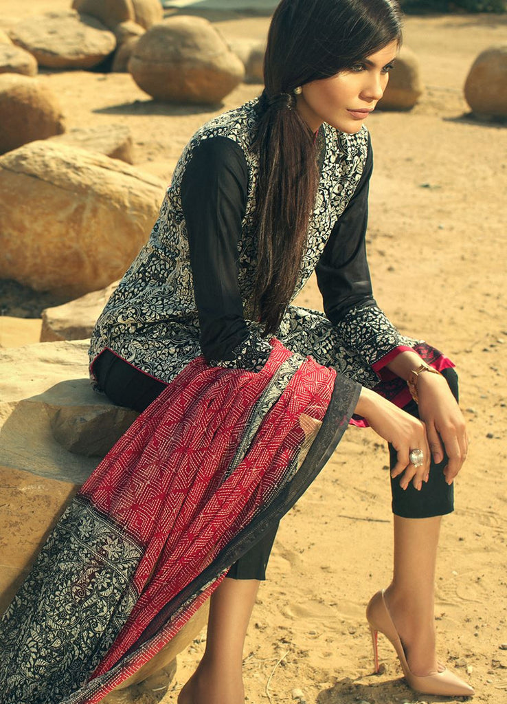 Sana Safinaz Spring/Summer Lawn Collection 2016 – 07A - YourLibaas  - 1