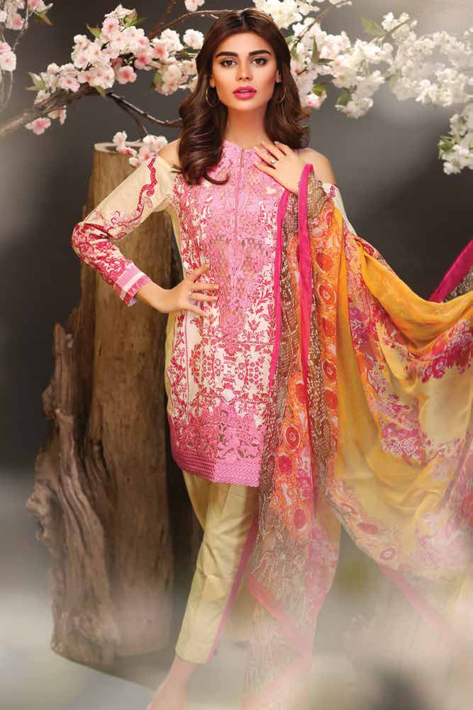Fuchsia Summer Lawn Collection '16 – Design 07 - YourLibaas  - 1
