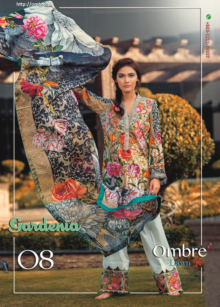 Ombre Lawn Collection 2018 – Gardenia