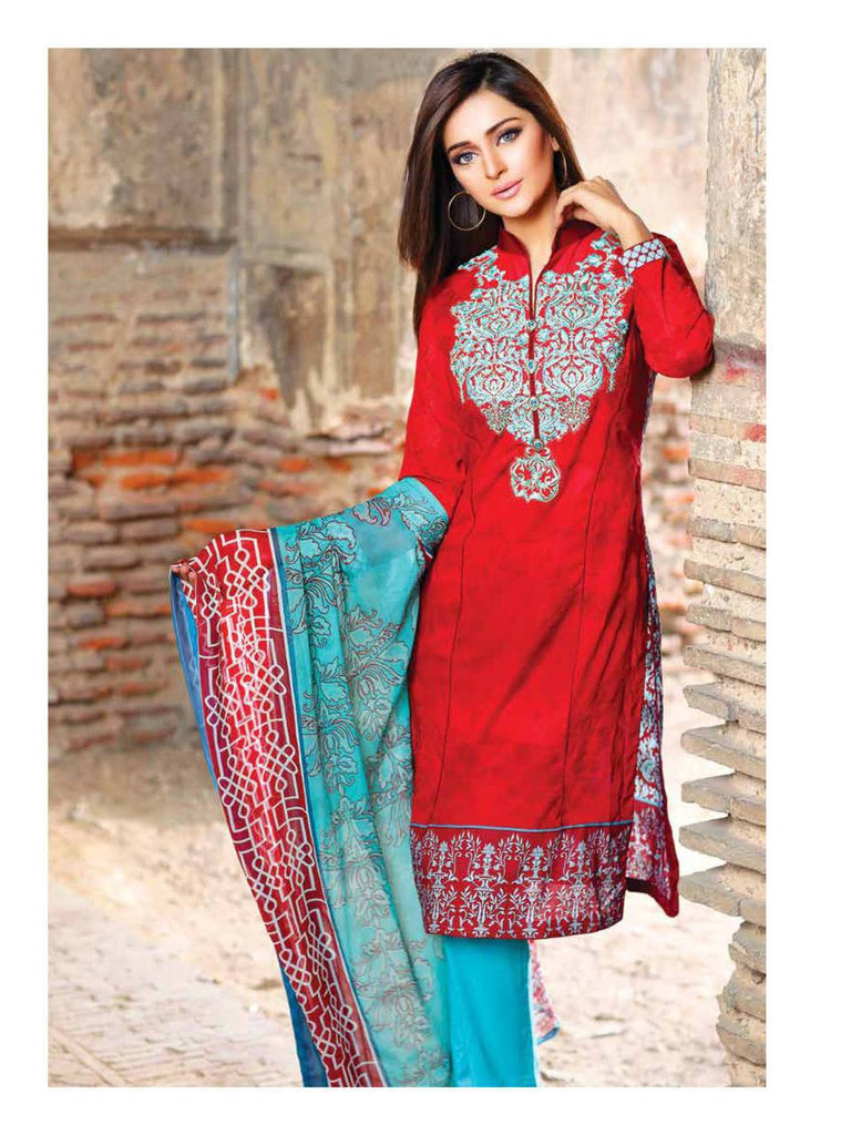 Zanisha Embroidered Lawn Collection 2016 –  08B - YourLibaas  - 1
