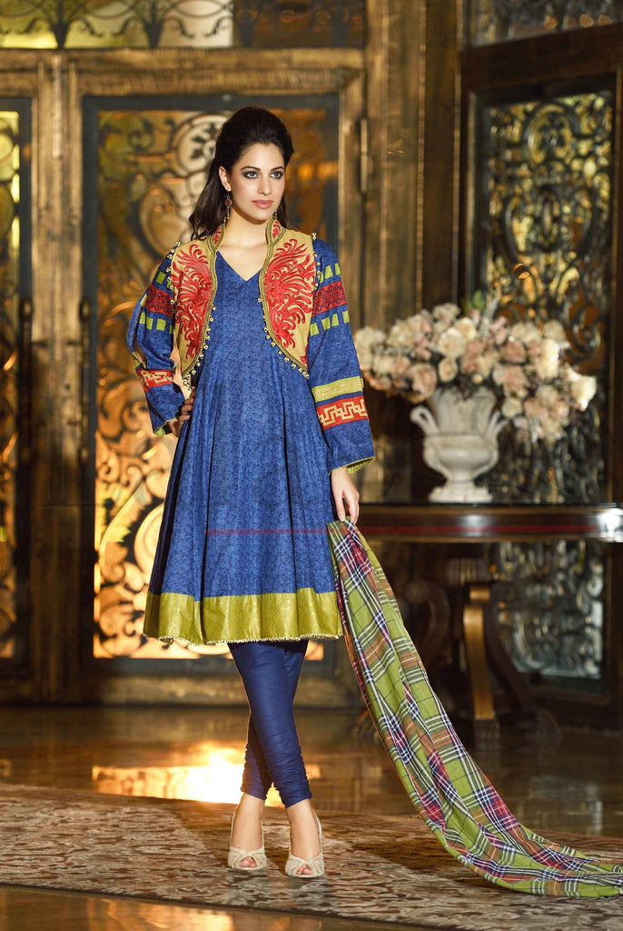 Lala Brocade Winter Collection With Woolen Shawl - BR19 - YourLibaas