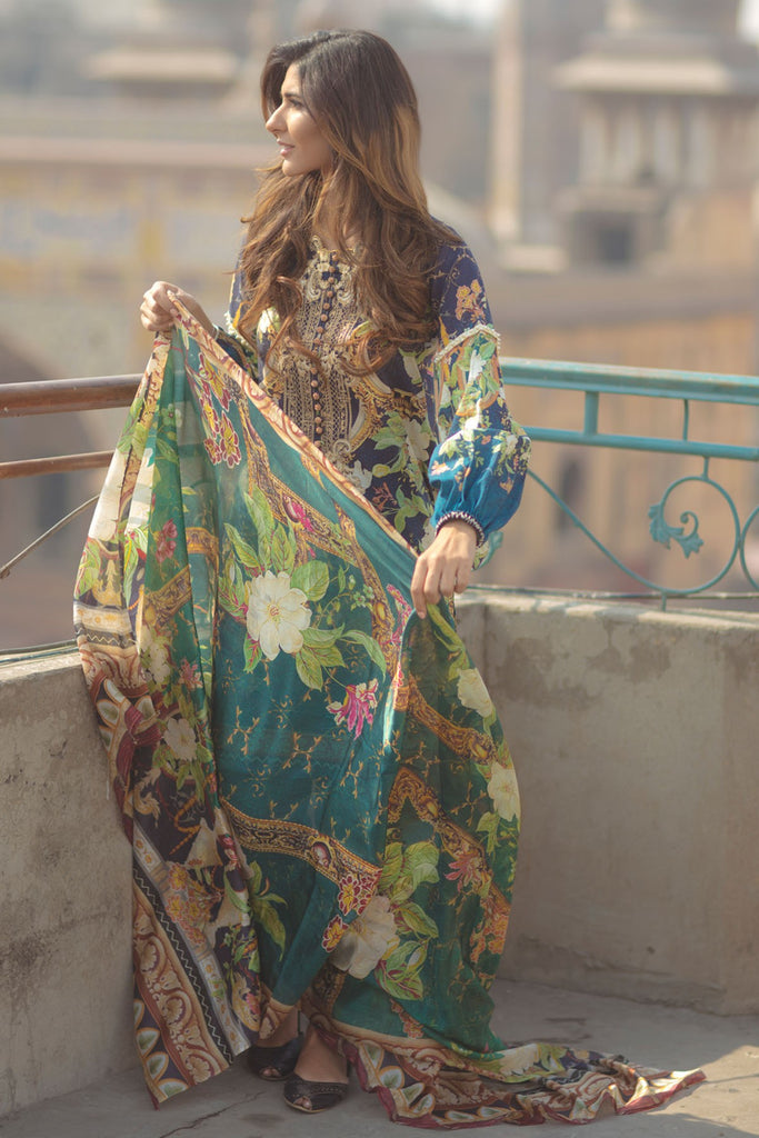Firdous Spring/Summer Lawn Collection 2018 – EXC 18-09