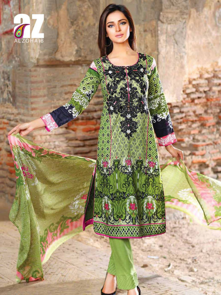 Zanisha Embroidered Lawn Collection 2016 – 09A - YourLibaas  - 1