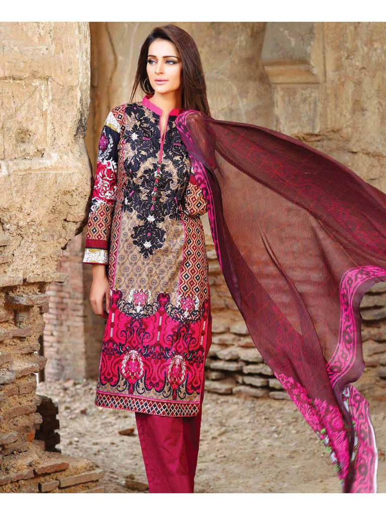 Zanisha Embroidered Lawn Collection 2016 – 09B - YourLibaas  - 1