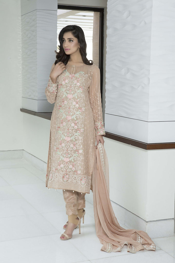 Baroque Luxury Chiffon Embroidered Collection Vol 3 – Ethereal Pastel - YourLibaas  - 1