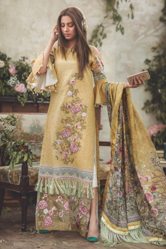 Noor by Saadia Asad Luxury Lawn 2018 – 09 Sunshine