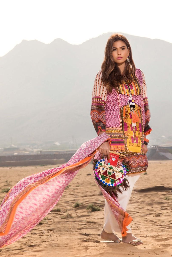 Gul Ahmed Gypsy Collection 2018 – Pink 2 Pc Printed GT-09