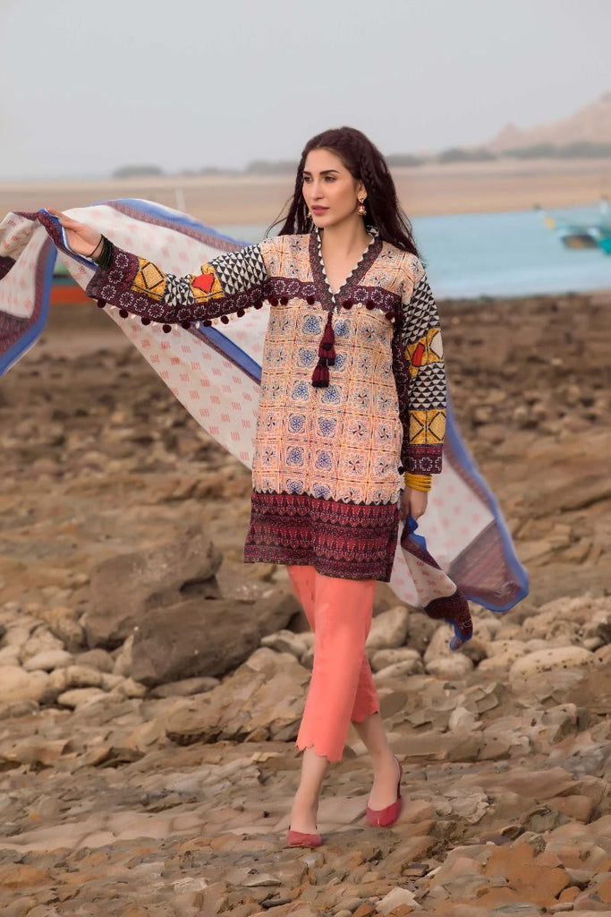 Gul Ahmed Gypsy Collection 2018 – Peach 2 Pc Printed GT-10