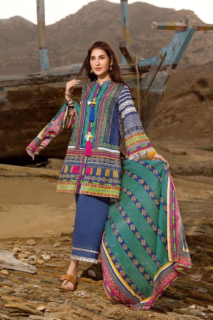 Gul Ahmed Gypsy Collection 2018 – Navy 3 Pc Printed GL-09