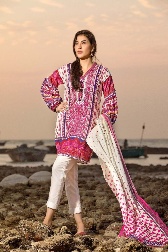 Gul Ahmed Gypsy Collection 2018 – Pink 2 Pc Printed GT-12