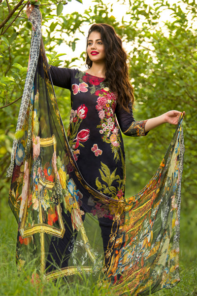 Asifa & Nabeel Eid Lawn Collection 2018 – Chapter : 4A – Dark Forest