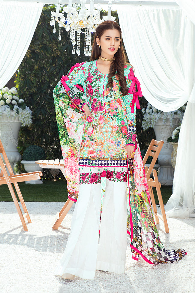 Gulaal Lawn Collection Vol-1 2018 – GL-07 Mint Green