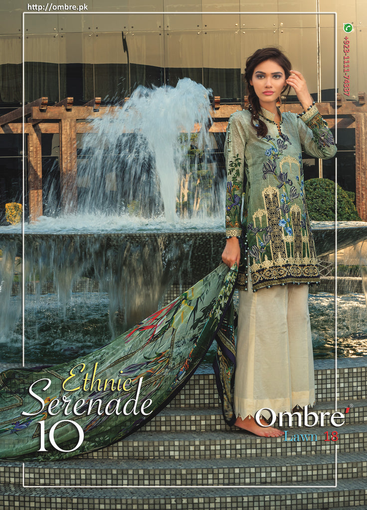 Ombre Lawn Collection 2018 – Ethnic Serenade