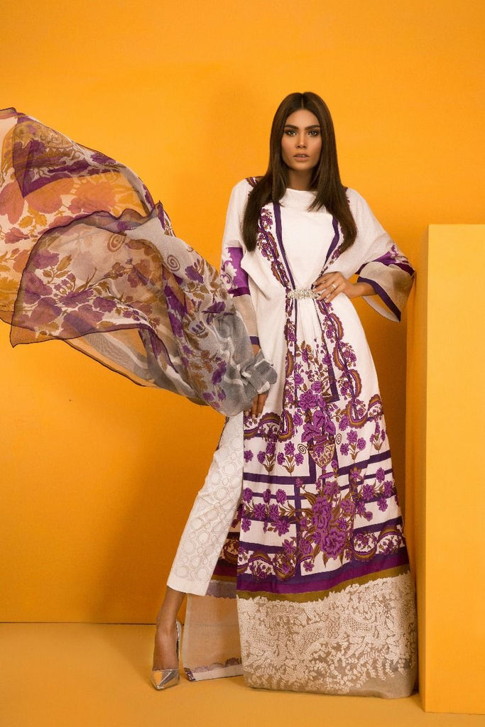 Sana Safinaz Muzlin Lawn Collection 2017 – 10B