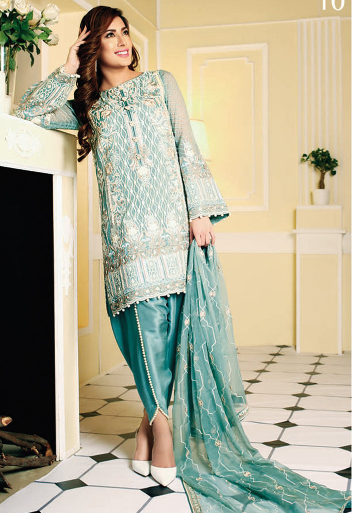 Nomi Ansari Embroidered Chiffon Collection Vol-2 2016 – DN10 - YourLibaas  - 1