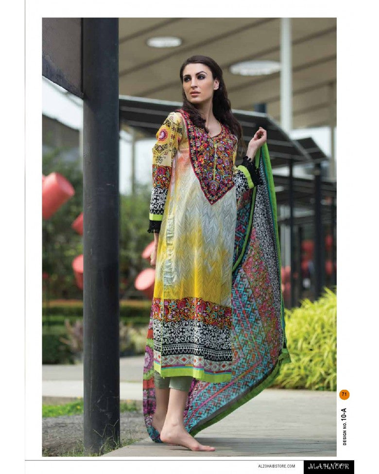 10A - Mahnoor Embroidered Collection 2015 - YourLibaas