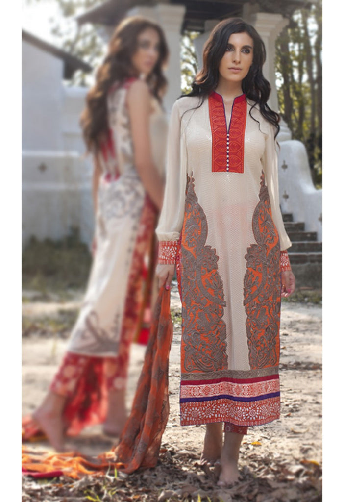 10A - Firdous Carnival Embroidered Collection 2015 - YourLibaas