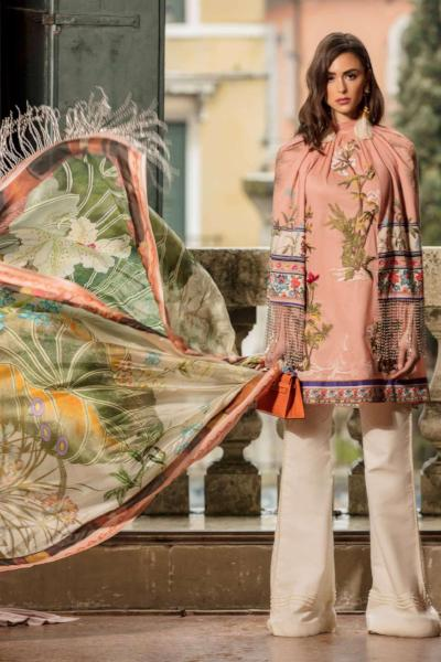 c270489e47 Sana Safinaz Luxury Lawn Collection 2019 – 10A - Rosa Corallo ...