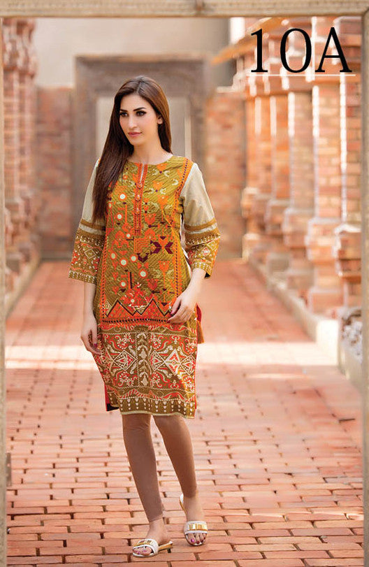 Subhata Embroidered Lawn Tunic Collection - 10A - YourLibaas  - 1