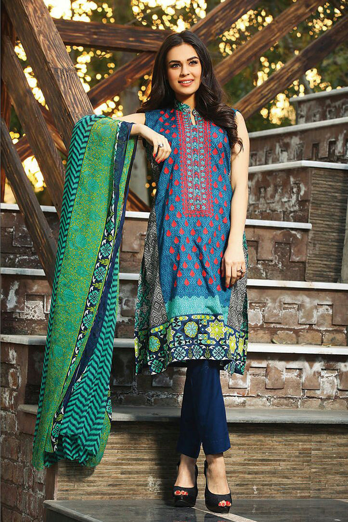 RajBari Spring/Summer Embroidered Lawn – 010A - YourLibaas  - 1