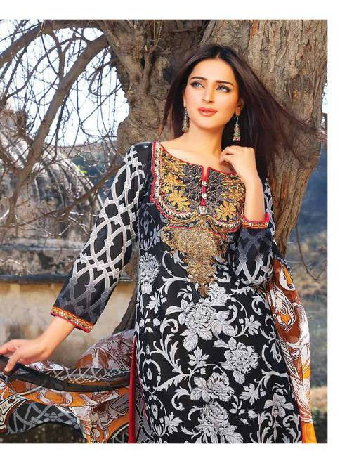 Zanisha Embroidered Lawn Collection 2016 – 10A - YourLibaas  - 1
