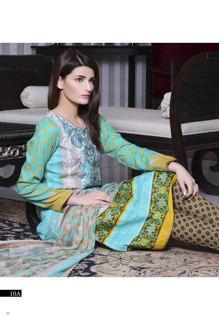 Kalyan Designer Embroidered Collection 2016 – 10A - YourLibaas  - 1