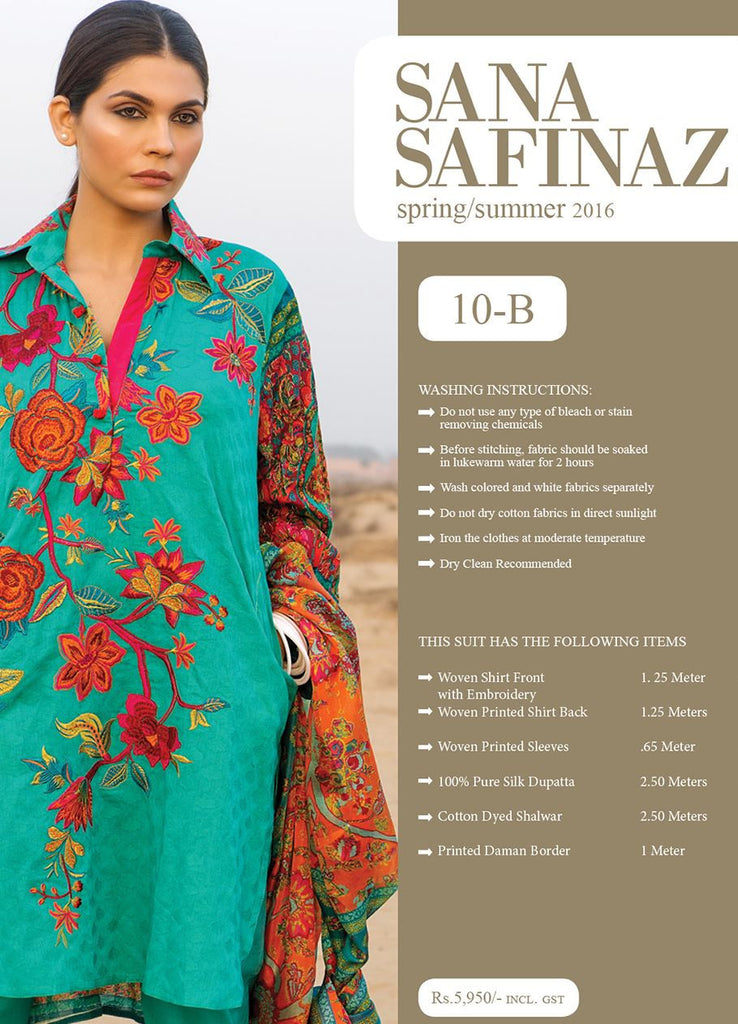 Sana Safinaz Spring/Summer Lawn Collection 2016 – 10B - YourLibaas  - 1