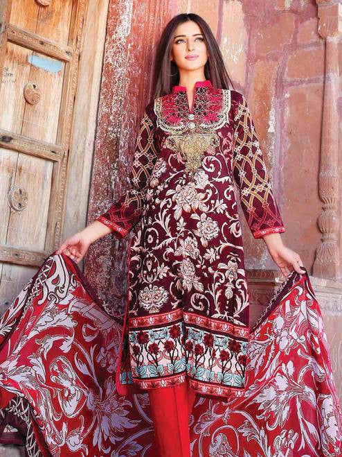 Zanisha Embroidered Lawn Collection 2016 – 10B - YourLibaas  - 1