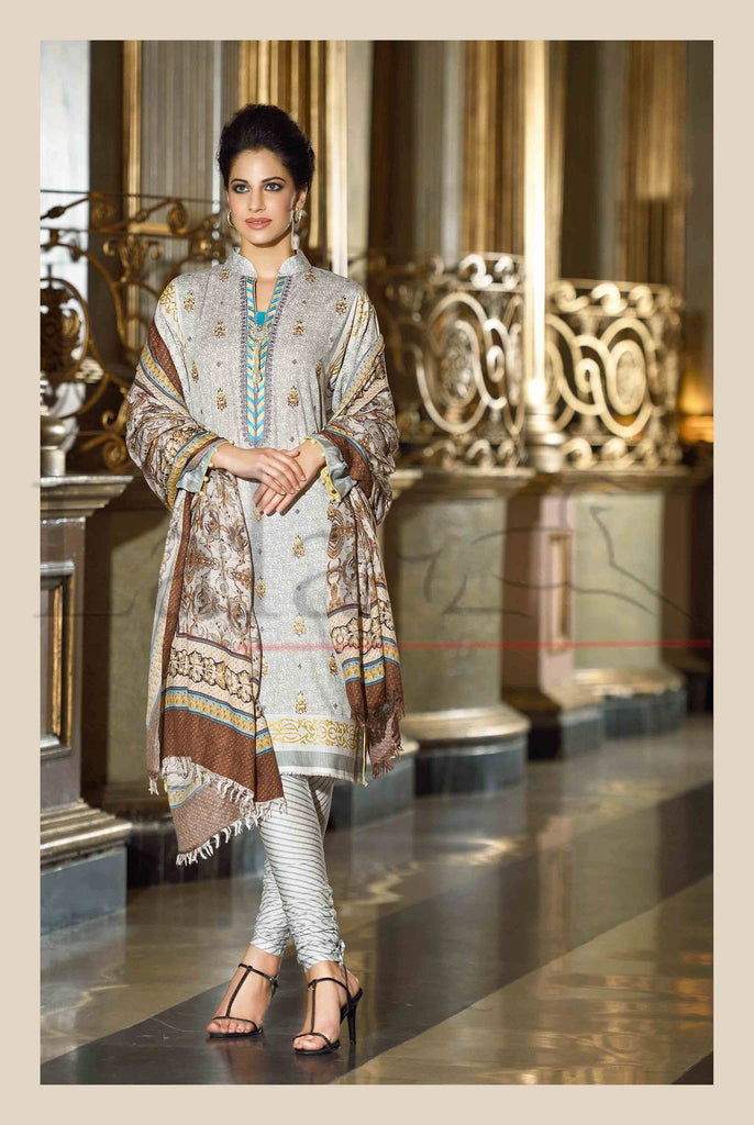 Lala Brocade Winter Collection With Woolen Shawl - 10 - YourLibaas