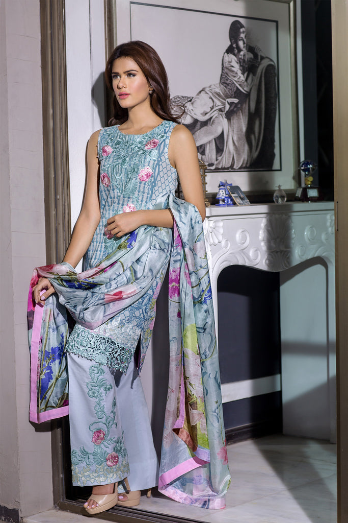 Rungrez Festive Lawn Collection 2016 – Midsummer Tryst - YourLibaas  - 1