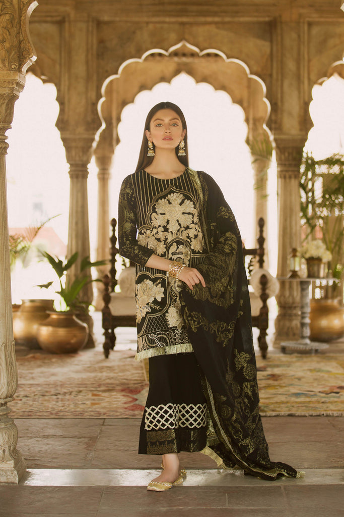 Qalamkar Bagh-e-Bahar Luxury Festive Collection – Almira
