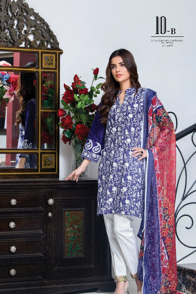 Sahil Designer Lawn Collection Vol-8 – 010B