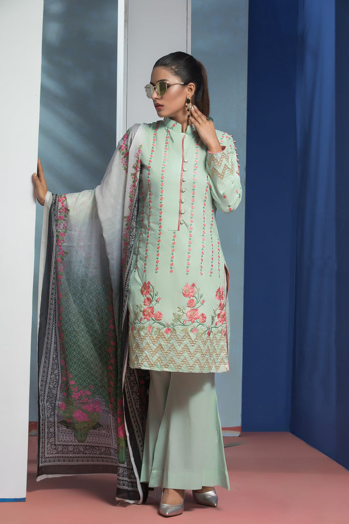 Sahil Designer Embroidered Lawn Collection Vol 6 – SH6-10B