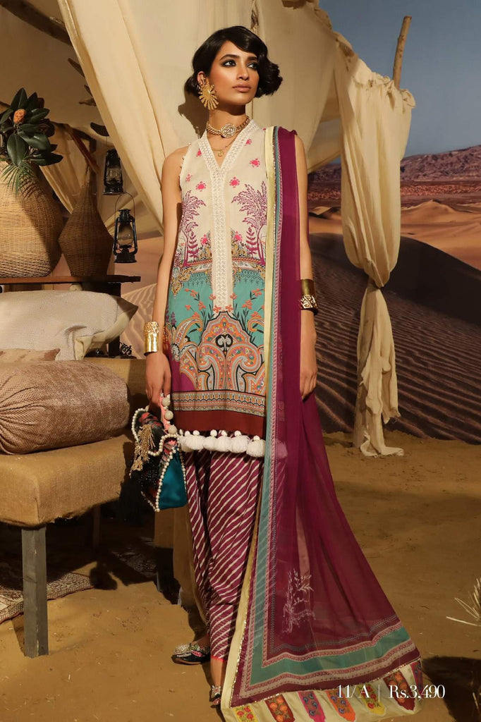 Sana Safinaz Mahay Lawn Collection 2019 – 11A