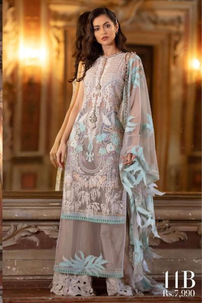Sana Safinaz Luxury Lawn Collection 2019 – 11B - Grigio Argento