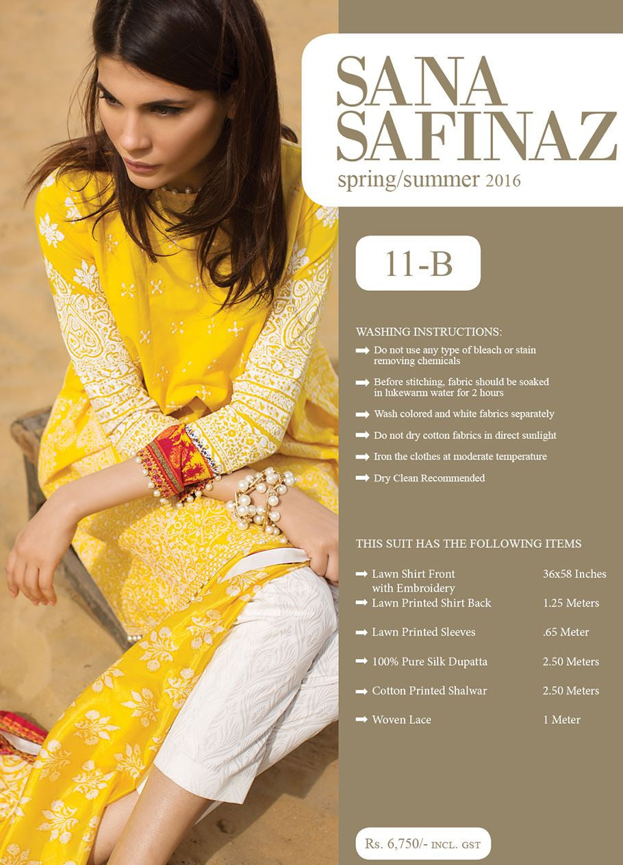 0f23fb3a15 ... Sana Safinaz Spring/Summer Lawn Collection 2016 – 11B - YourLibaas - 2