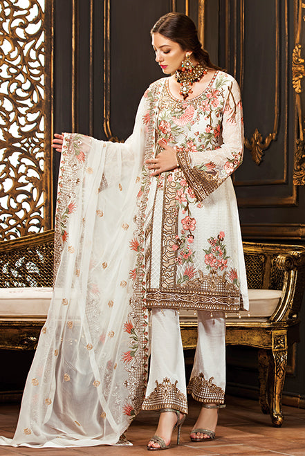 Ramsha Rangoon Chiffon Collection Vol-II – D-204