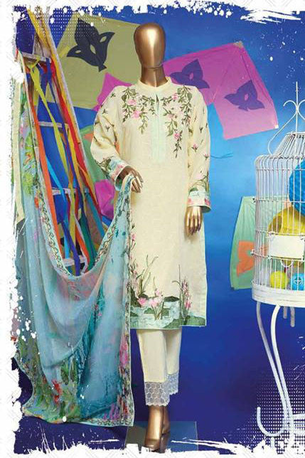 HZ Textiles Regalia Swiss Embroidered Festive Eid Collection – Design 11  Lemon