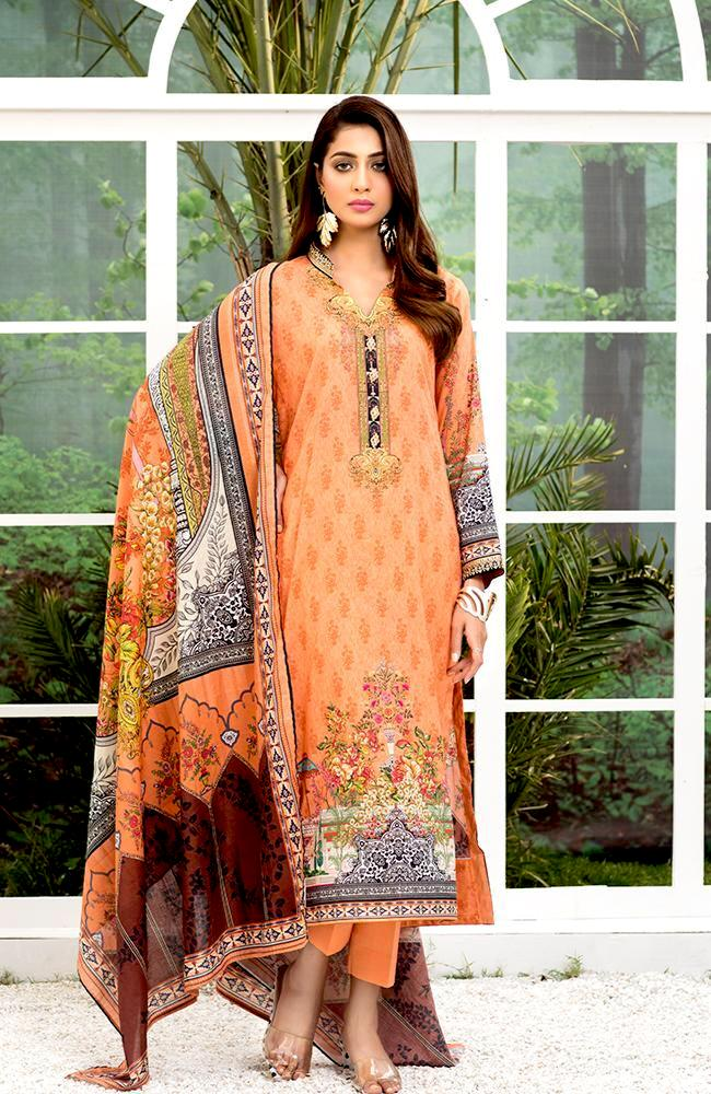 Al Zohaib Colors Digital Printed Lawn 2020 – Design 12A