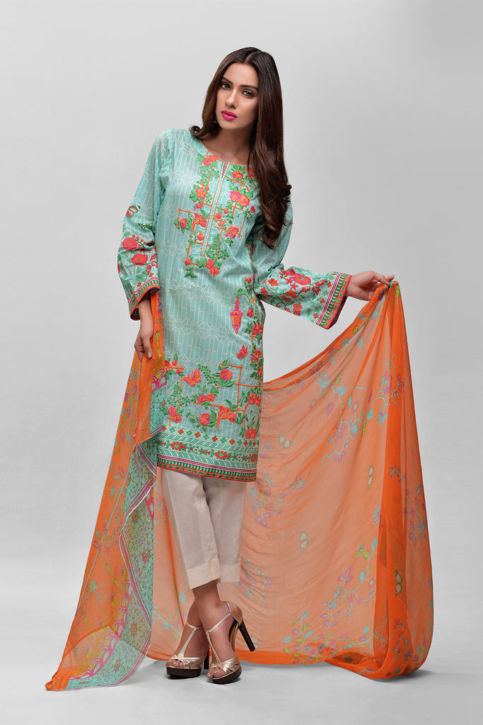 AUJ Lawn Collection 2016 Vol 1 – Design 12A - YourLibaas  - 1
