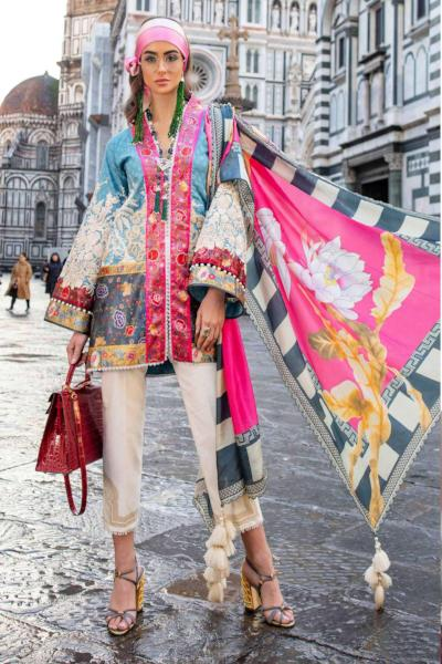 Sana Safinaz Luxury Lawn Collection 2019 – 12B - Cinese