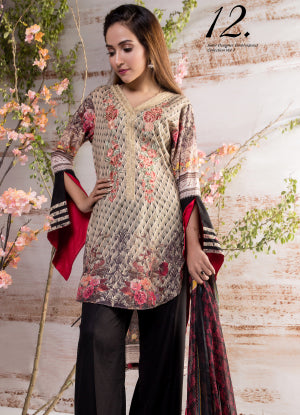 Sahil Designer Embroidered Eid Collection 2018 Vol 7 – SH7-12