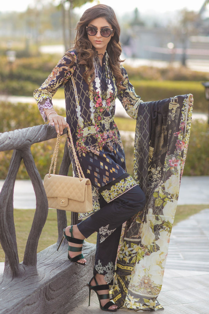Firdous Spring/Summer Lawn Collection 2018 – EXC 18-13