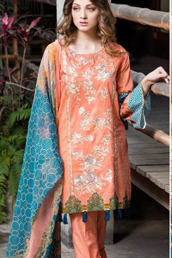 Dhanak Embroidered Lawn Collection by Rang Rasiya – 132A