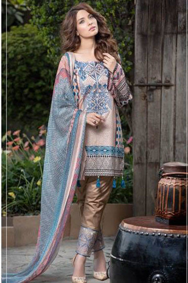Dhanak Embroidered Lawn Collection by Rang Rasiya – 139A