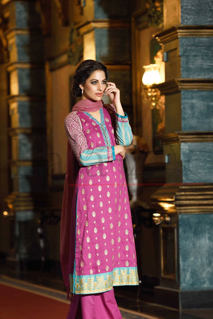 Lala Brocade Winter Collection With Woolen Shawl - BR15 - YourLibaas