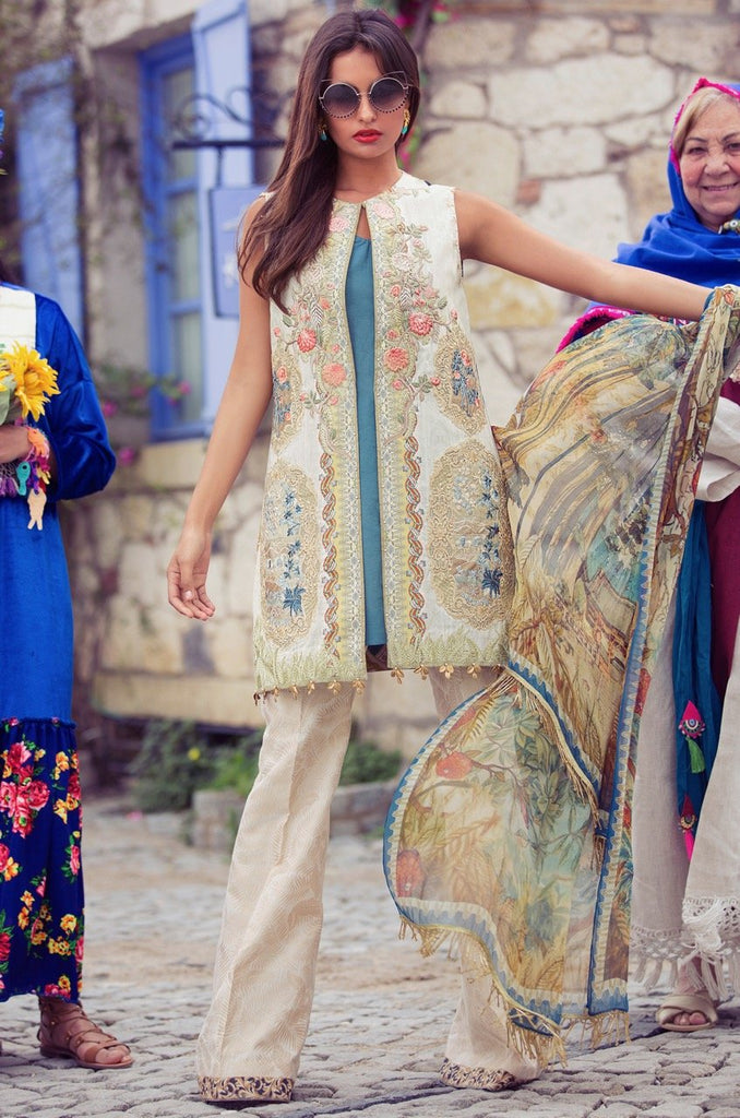 Shiza Hassan Luxury Lawn Collection '18 – Coursage - 9B